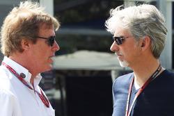 Danny Sullivan, FIA Steward with Damon Hill, Sky Sports Presenter