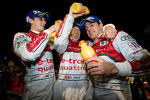 Race winners Oliver Jarvis, Marcel Fssler, Benoit Trluyer celebrate