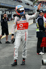 Jenson Button, McLaren in parc ferme