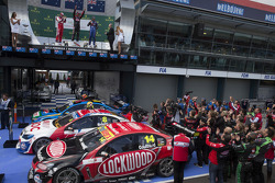 Podium: race winner Fabian Coulthard, second place Jason Bright, third place Will Davison