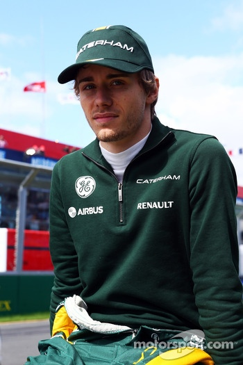 Charles Pic, Caterham on the drivers parade