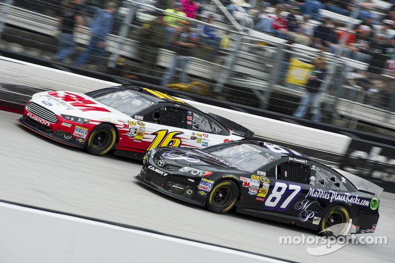 Joe Nemechek, NEMCO Motorsports Toyota, Greg Biffle, Roush Fenway Racing Ford