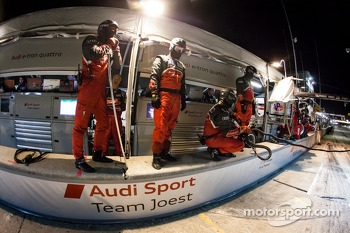 Audi Sport Team Joest team members ready for a pit stop