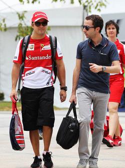 Felipe Massa, Ferrari with Nicolas Todt, Driver Manager