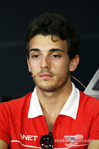 Jules Bianchi, Marussia F1 Team in the FIA Press Conference