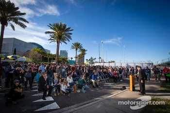 Dan Wheldon Memorial and Victory Circle unveiling ceremony