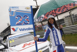 Grid girl of Tom Chilton, RML Chevrolet Cruze 1.6 T