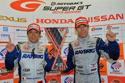 GT500 race winners Takuya Izawa and Takashi Kogure