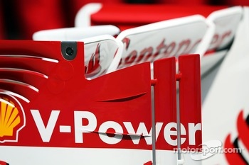 Ferrari F138 rear wing detail