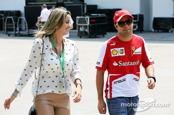 Felipe Massa, Ferrari with his wife Rafaela Bassi