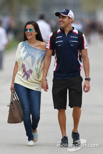 Pastor Maldonado, Williams with his wife Gabriele Tarkany