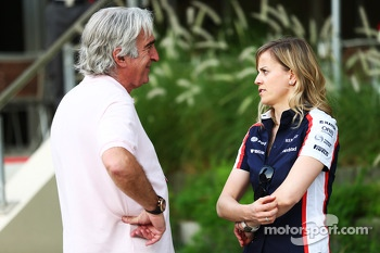 Susie Wolff, Williams Development Driver with Tom Shine, Driver Manager