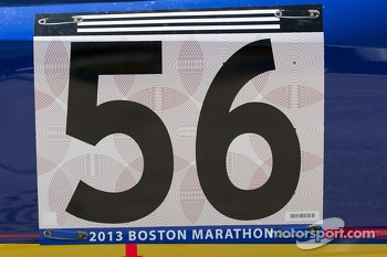 Martin Truex Jr., Michael Waltrip Racing Toyota honors those killed in the Boston Marathon bombing