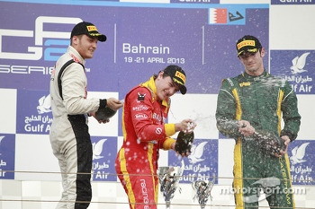 Podium: race winner Fabio Leimer, second place Stefano Coletti, third place Alexander Rossi