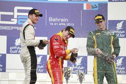 Podium: race winner Fabio Leimer, second place Stefano Coletti, third place Alexander Rossi
