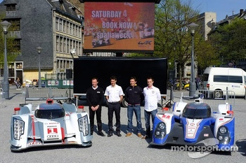 The Audi R18 e-tron quattro and Toyota TS030 Hybrid