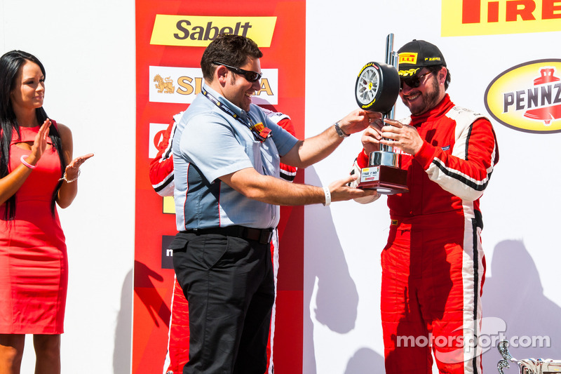 TP podium: winner Carlos Kauffmann