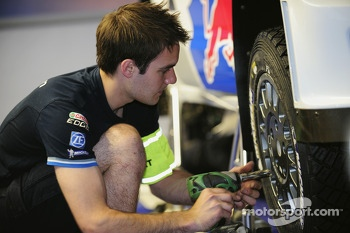 Volkswagen Motorsport team members at work