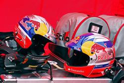 Helmets of Daniel Sordo and Carlos del Barrio, Citroen DS3 WRC, Citroën Total Abu Dhabi World Rally Team
