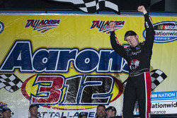 Victory lane: race winner Regan Smith