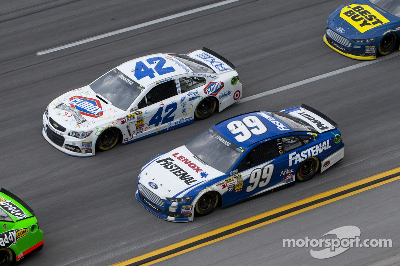 Carl Edwards and Juan Pablo Montoya
