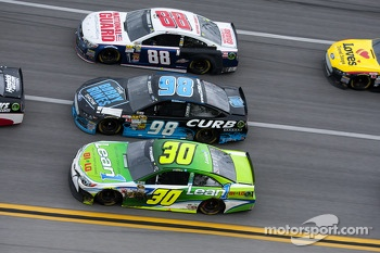 David Stremme, Michael McDowell and Dale Earnhardt Jr.