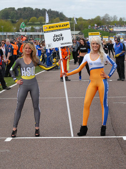 RCIB Insurance Racing Grid girl