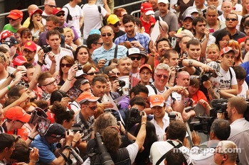 Sergio Perez, McLaren with the fans