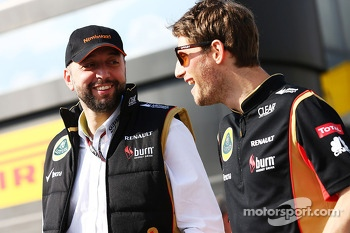 (L to R): Eric Lux, Genii Capital CEO with Romain Grosjean, Lotus F1 Team