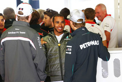 Lewis Hamilton, Mercedes AMG F1 with team mate Nico Rosberg, Mercedes AMG F1