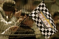 An Indy 500 flag