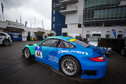 #44 Falken Motorsports Porsche 997 GT3 R (SP9) at technical inspection