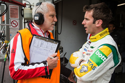 Romain Dumas with Porsche racing engineer Roland Kussmaul