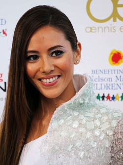 Jessica Michibata, girlfriend of Jenson Button, McLaren at the Amber Lounge Fashion Show