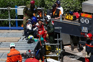 Felipe Massa, Ferrari crashed out of the race at Ste Devote