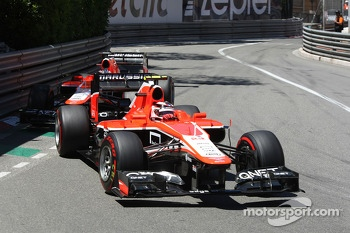 Max Chilton, Marussia F1 Team MR02 leads team mate Jules Bianchi, Marussia F1 Team MR02