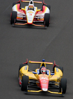 Carlos Munoz and Helio Castroneves