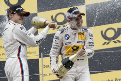 Race winner Bruno Spengler, BMW Team Schnitzer BMW M3 DTM, third place Timo Glock, BMW Team MTEK BMW M3 DTM