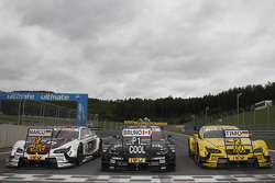 Winning cars; 2nd Marco Wittmann, BMW Team MTEK BMW M3 DTM, 1st Bruno Spengler, BMW Team Schnitzer BMW M3 DTM, 3rd Timo Glock, BMW Team MTEK BMW M3 DTM