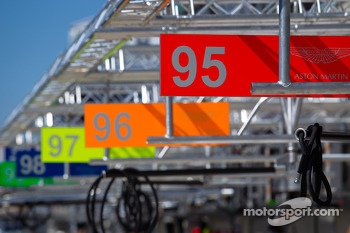 Aston Martin Racing pit numbers