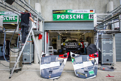 Porsche AG Team Manthey pit area