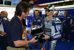 Actor Sean Penn with Jorge Lorenzo, Yamaha Factory Racing