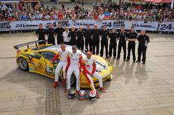 #66 JMW Motorsport Ferrari F458 Italia: Andrea Bertolini, Khaled Al Qubaisi, Abdulaziz Al Faisal