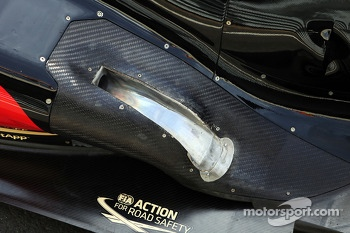 Lotus F1 E21 exhaust