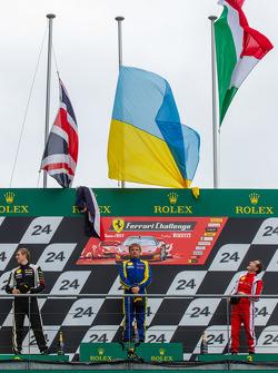 Podium: race winner Sergey Chukanov, second place Alexander Martin, third place Benedetto Marti