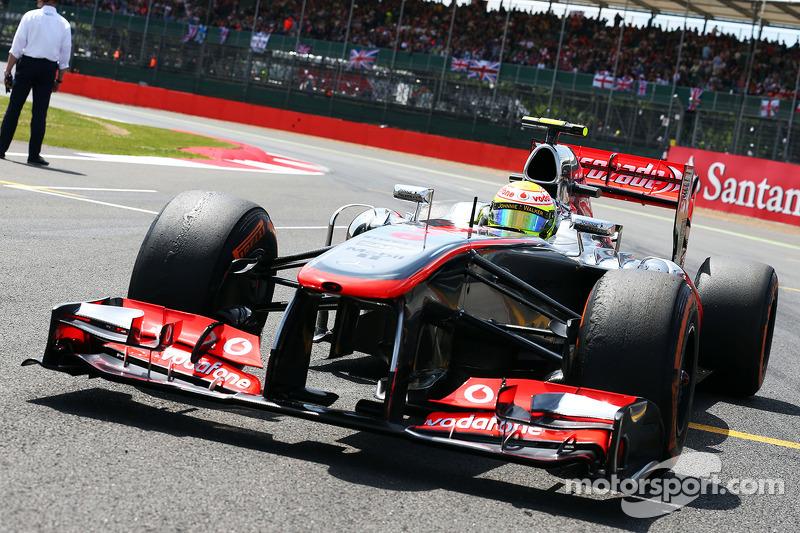 Sergio Perez McLaren MP4-28 on the grid