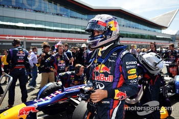 Sebastian Vettel Red Bull Racing RB9 on the grid