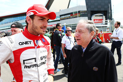Jules Bianchi Marussia F1 Team with Jean Todt FIA President on the grid