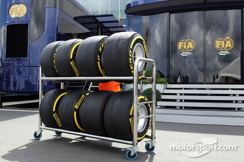 Pirelli tyres pass the FIA motorhome