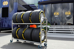 Pirelli tyres pass the FIA motorhome